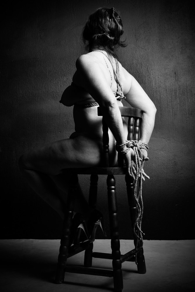 Fetish Photogrpahy - Northcliff - rope bondage tied to a chair