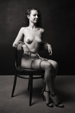 fetish photogrpahy - northcliff -bound to a chair